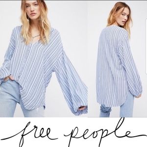 Free People RHYTHM OF THE NIGHT Oversize Tunic Top